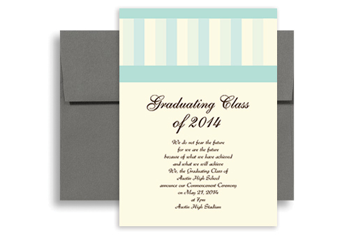 2014 Cheap With Discount Graduation Announcement Sample 5x7 in
